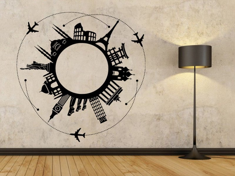 Samolepky na zeď Svět 001 - Samolepící dekorace a nálepka na stěnu