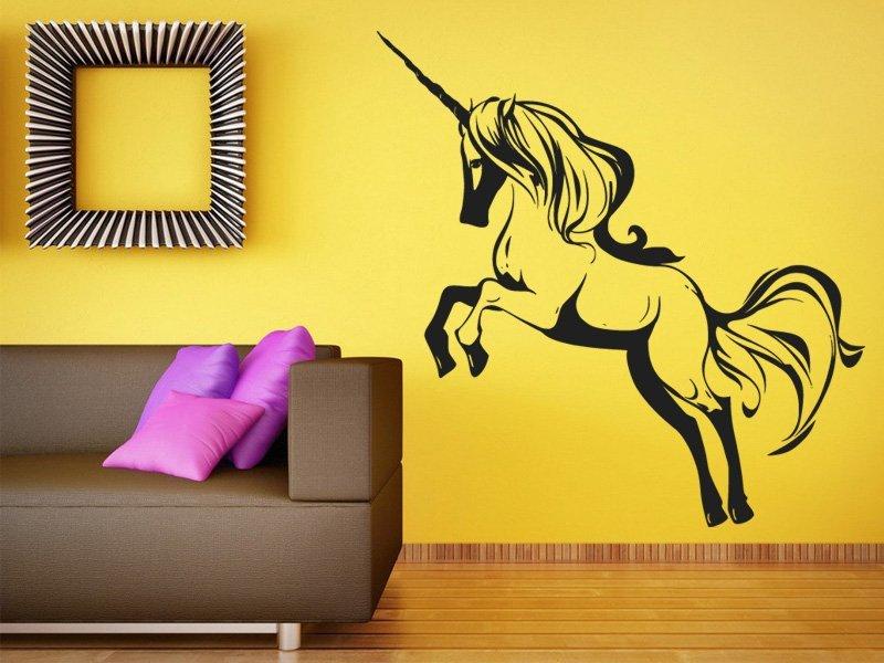 Samolepky na zeď Jednorožec 0670 - Samolepící dekorace a nálepka na stěnu