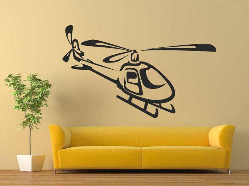 Samolepky na zeď Helikoptéra 0809 - Samolepící dekorace a nálepka na stěnu