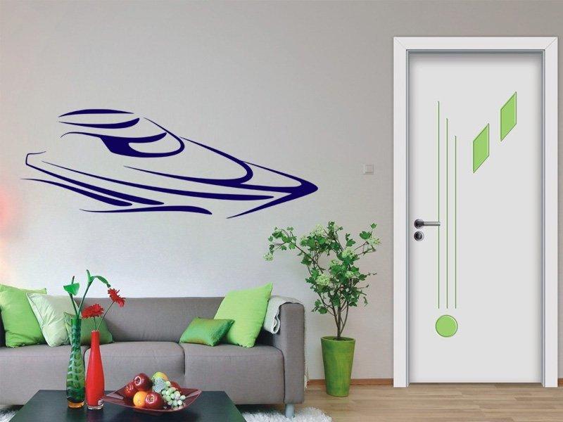 Samolepky na zeď Loď 012 - Samolepící dekorace a nálepka na stěnu