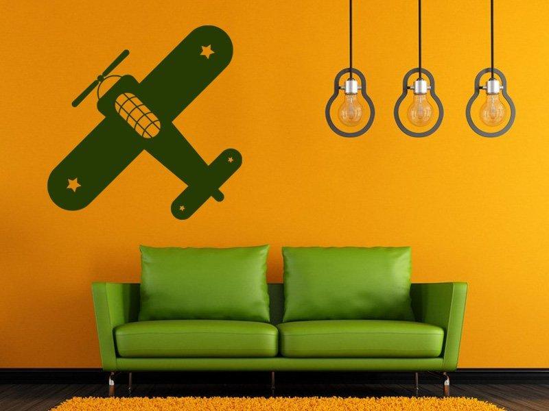 Samolepky na zeď Letadlo 001 - Samolepící dekorace a nálepka na stěnu