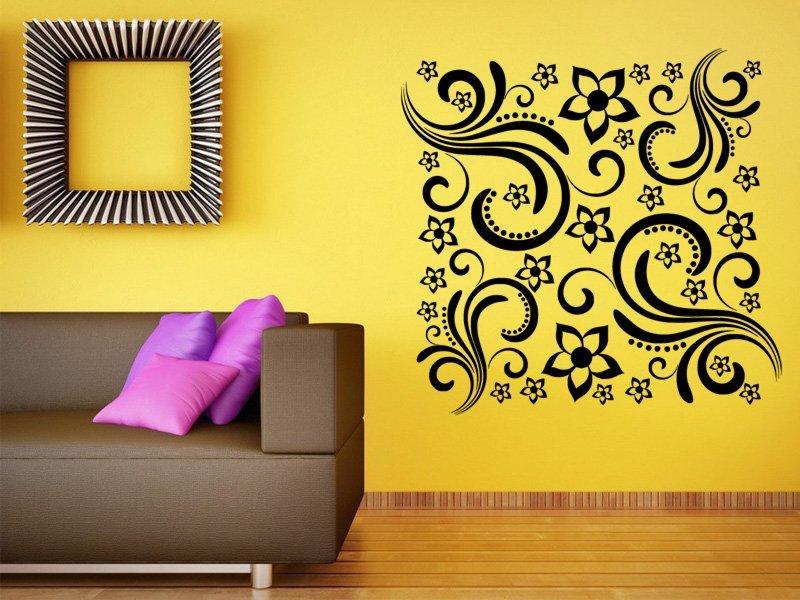 Samolepky na zeď Květiny 0216 - Samolepící dekorace a nálepka na stěnu