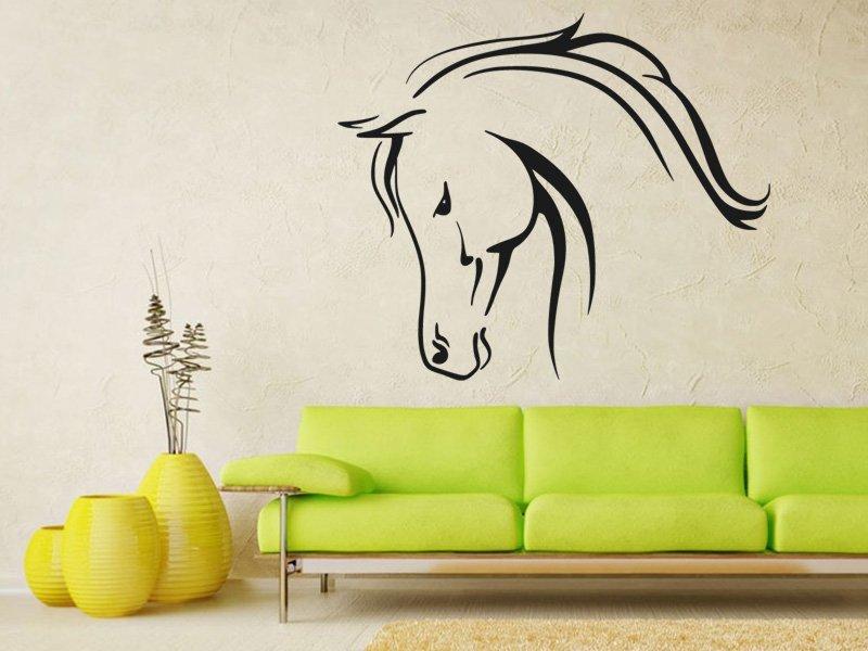 Samolepky na zeď Kůň 0322 - Samolepící dekorace a nálepka na stěnu