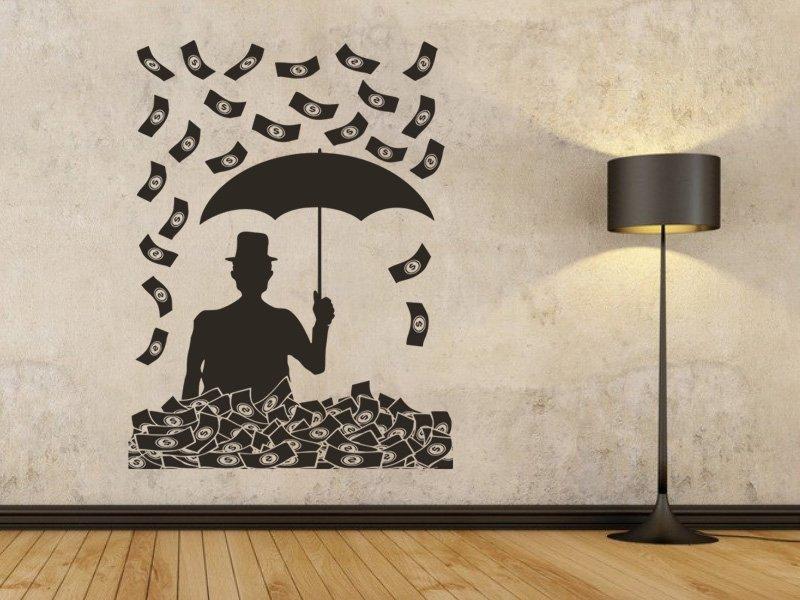 Samolepky na zeď Peníze 001 - Samolepící dekorace a nálepka na stěnu