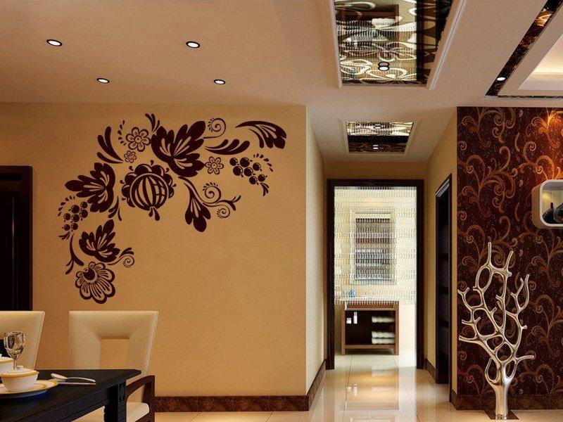 Samolepky na zeď Ornamenty z rostlin 017 - Samolepící dekorace a nálepka na stěnu