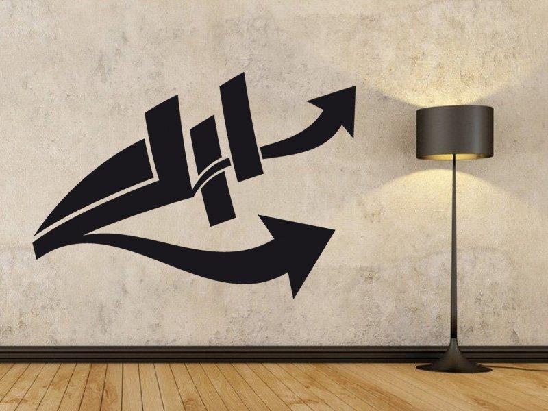 Samolepky na zeď Šipka 013 - Samolepící dekorace a nálepka na stěnu