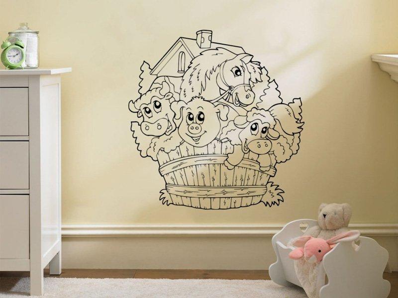 Samolepky na zeď Farma 001 - Samolepící dekorace a nálepka na stěnu