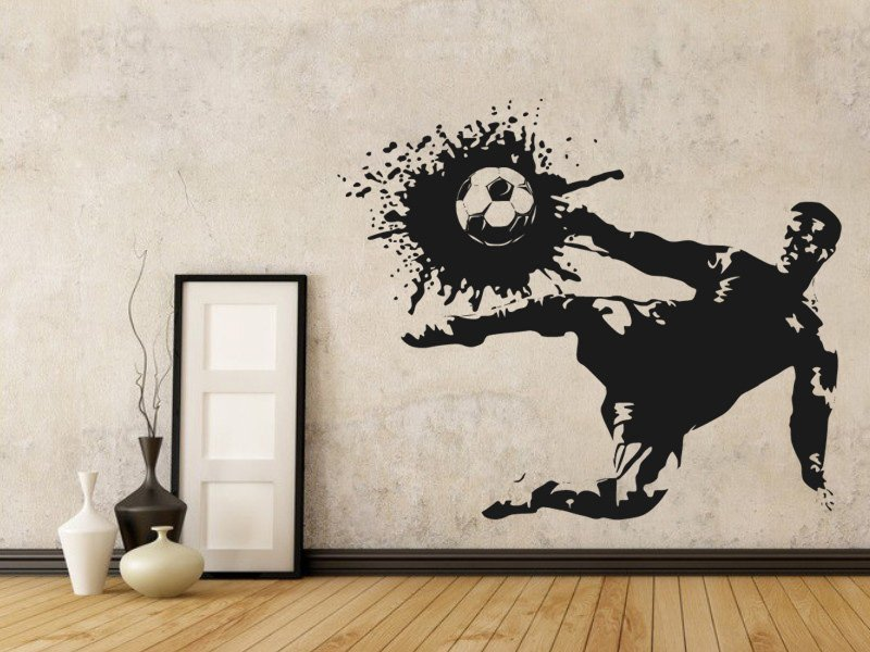 Samolepky na zeď Fotbalista 006 - Samolepící dekorace a nálepka na stěnu