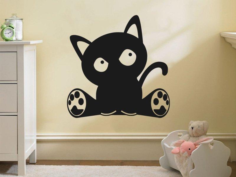 Samolepky na zeď Kočka 002 - Samolepící dekorace a nálepka na stěnu