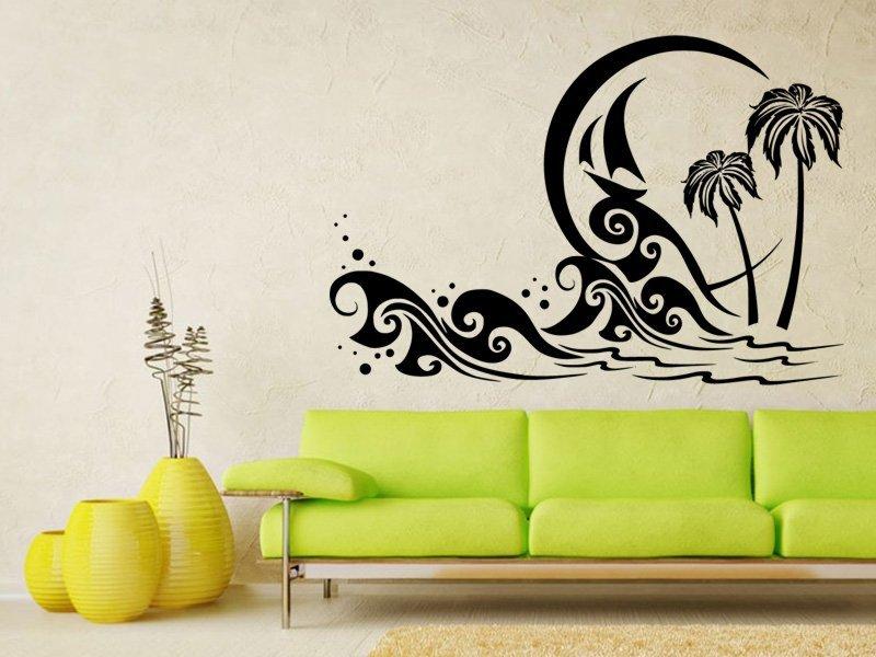 Samolepky na zeď Palmy 0302 - Samolepící dekorace a nálepka na stěnu