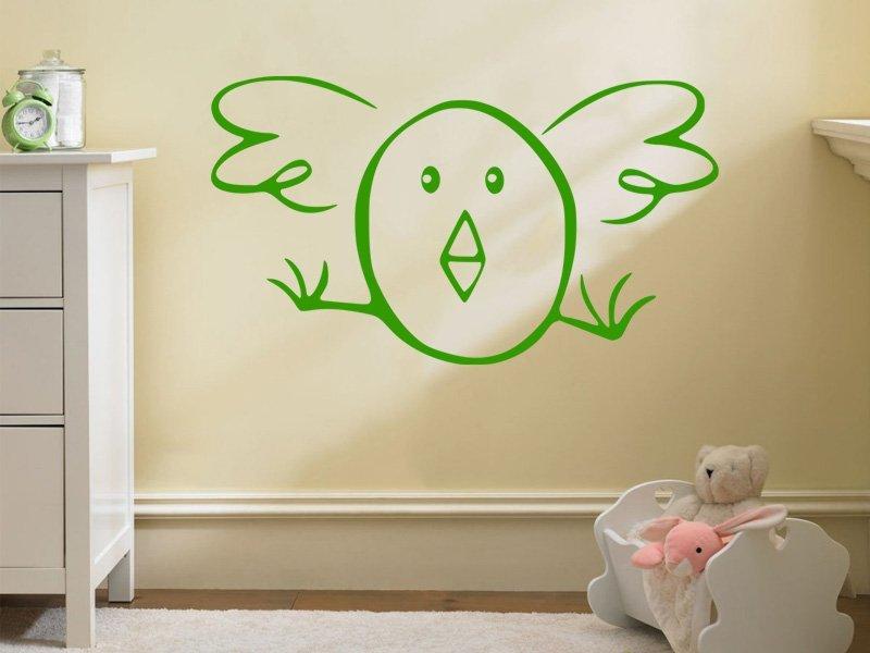 Samolepky na zeď Kuřátko 001 - Samolepící dekorace a nálepka na stěnu