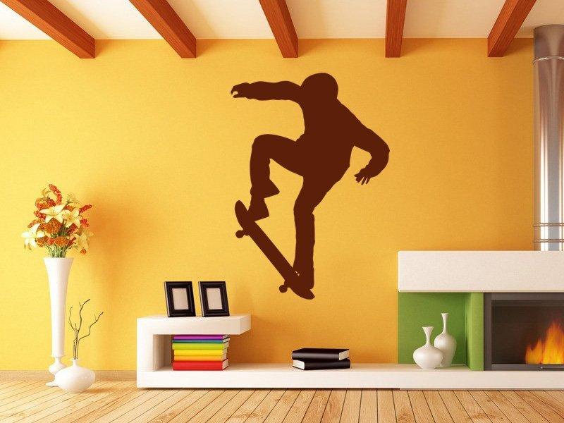 Samolepky na zeď Skateboardista 006 - Samolepící dekorace a nálepka na stěnu