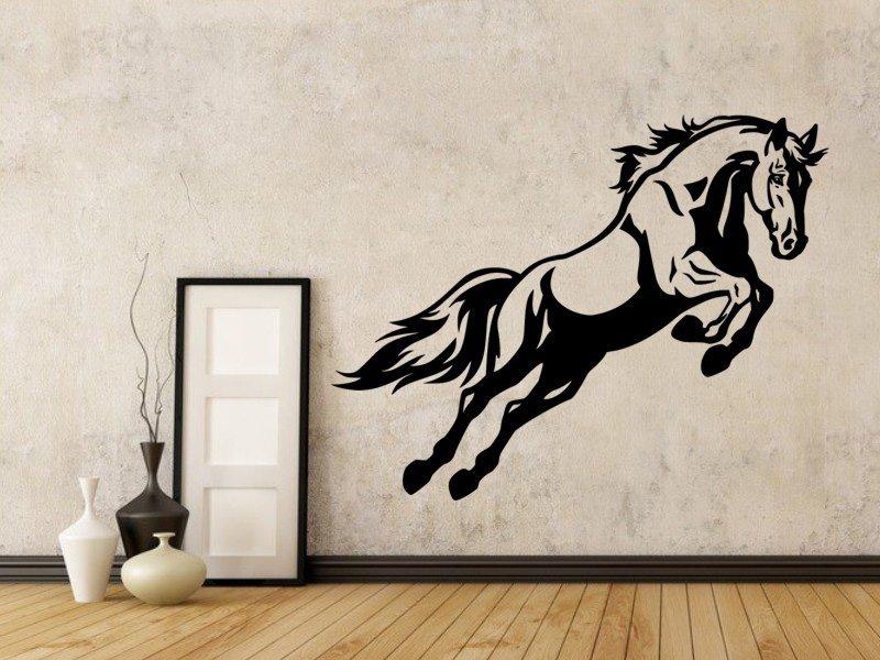 Samolepky na zeď Kůň 0386 - Samolepící dekorace a nálepka na stěnu