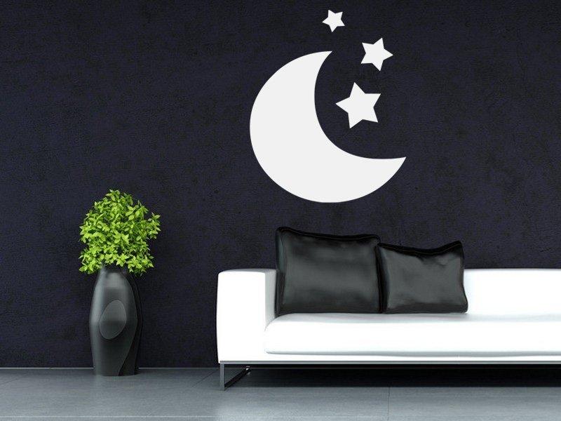 Samolepky na zeď Měsíček 002 - Samolepící dekorace a nálepka na stěnu