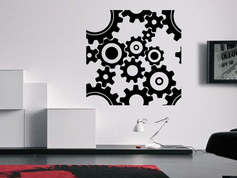 Samolepky na zeď Ozubená kola 0059 - Samolepící dekorace a nálepka na stěnu