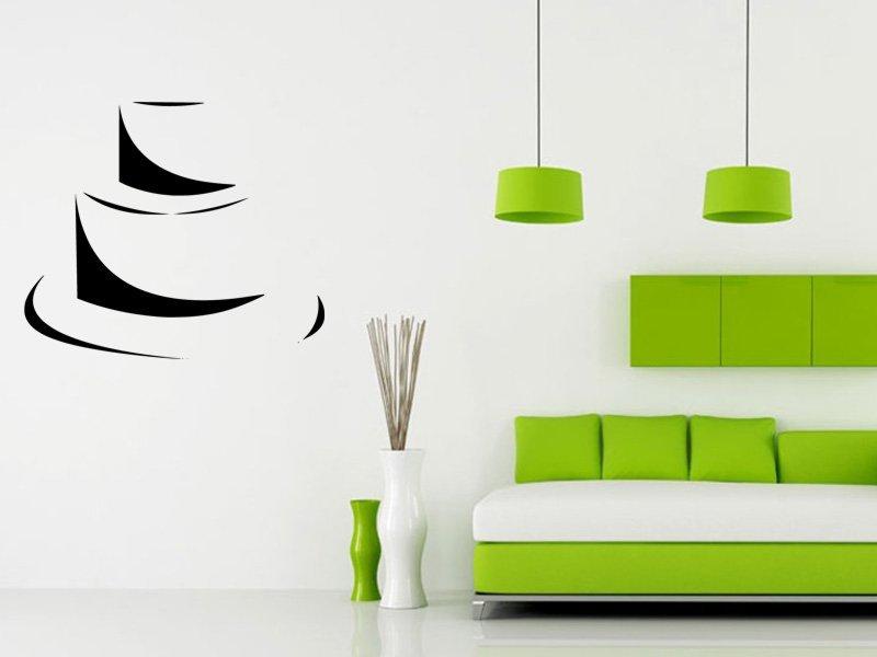 Samolepky na zeď Dort 0159 - Samolepící dekorace a nálepka na stěnu