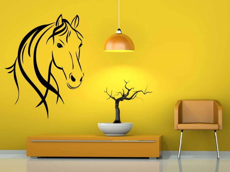 Samolepky na zeď Kůň 0364 - Samolepící dekorace a nálepka na stěnu