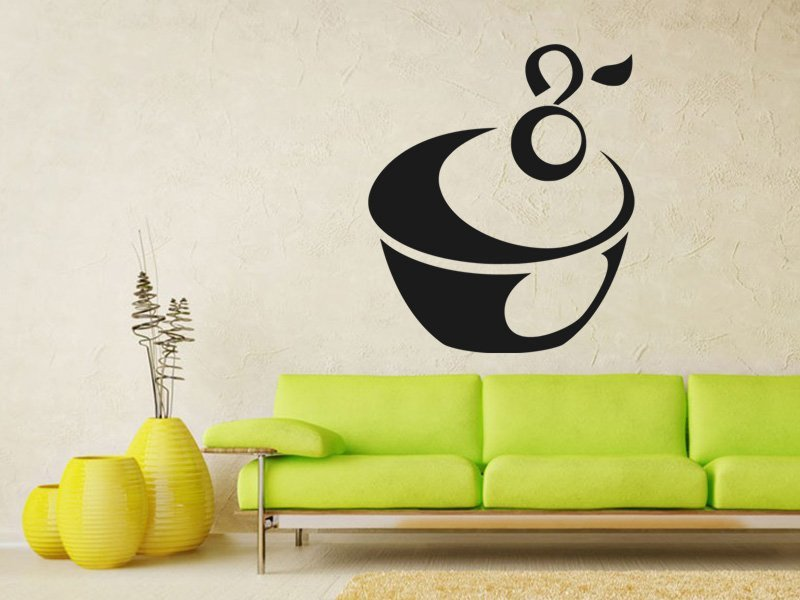 Samolepky na zeď Cupcake 0003 - Samolepící dekorace a nálepka na stěnu
