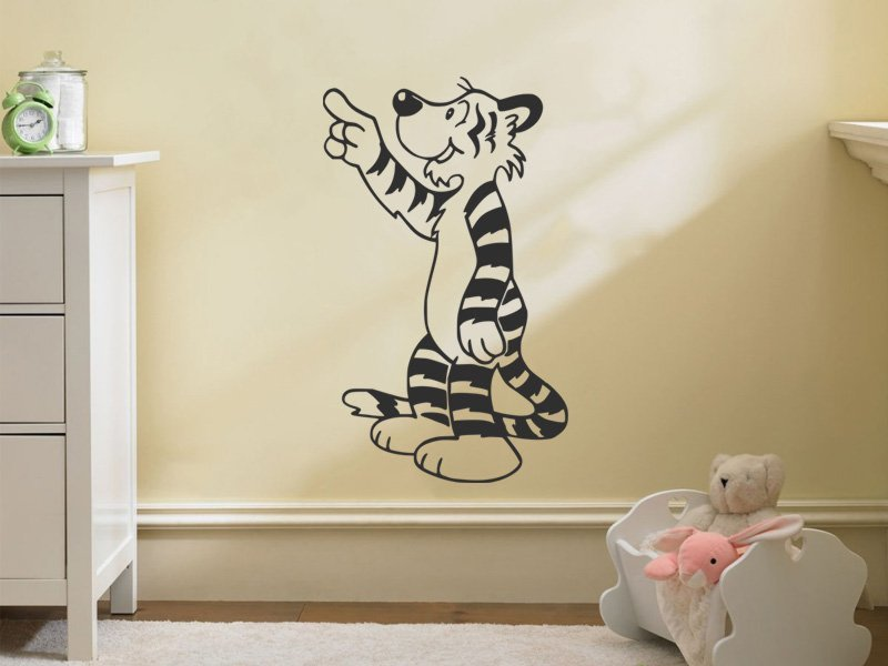 Samolepky na zeď Tygřík 001 - Samolepící dekorace a nálepka na stěnu