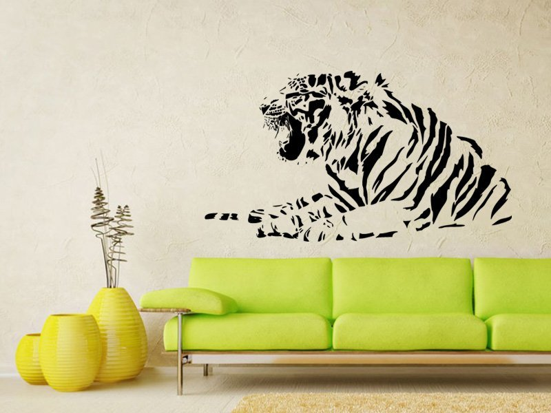 Samolepky na zeď Tygr 012 - Samolepící dekorace a nálepka na stěnu