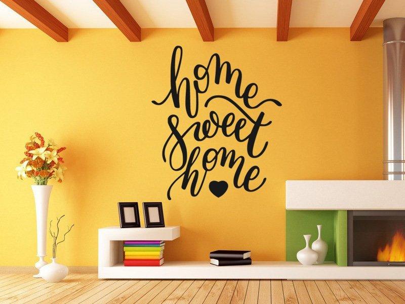 Samolepky na zeď Nápis Home Sweet Home 0634 - Samolepící dekorace a nálepka na stěnu
