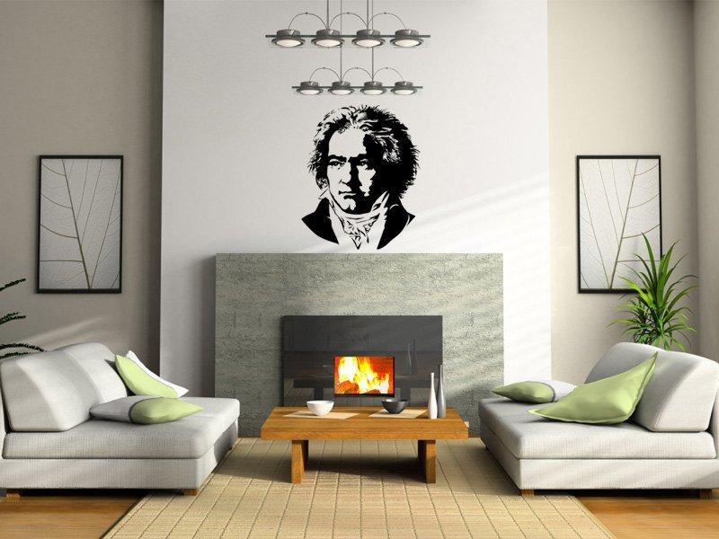 Samolepky na zeď Beethoven 001 - Samolepící dekorace a nálepka na stěnu