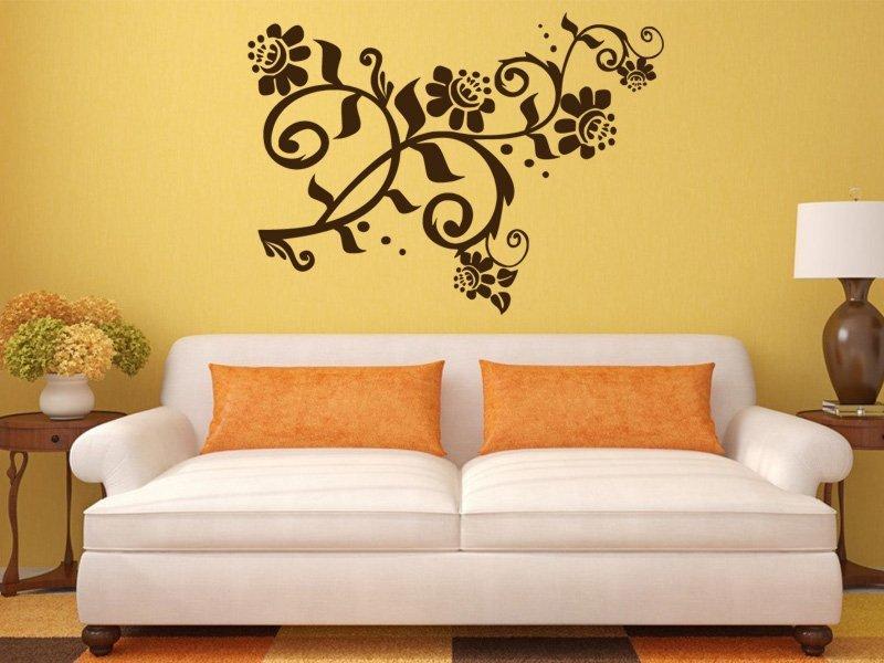 Samolepky na zeď Květiny 029 - Samolepící dekorace a nálepka na stěnu