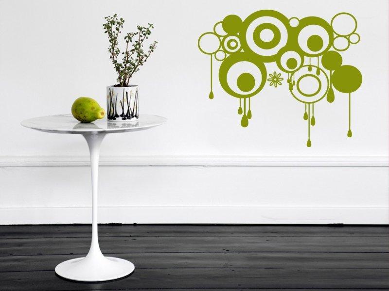 Samolepky na zeď Kruhy 007 - Samolepící dekorace a nálepka na stěnu