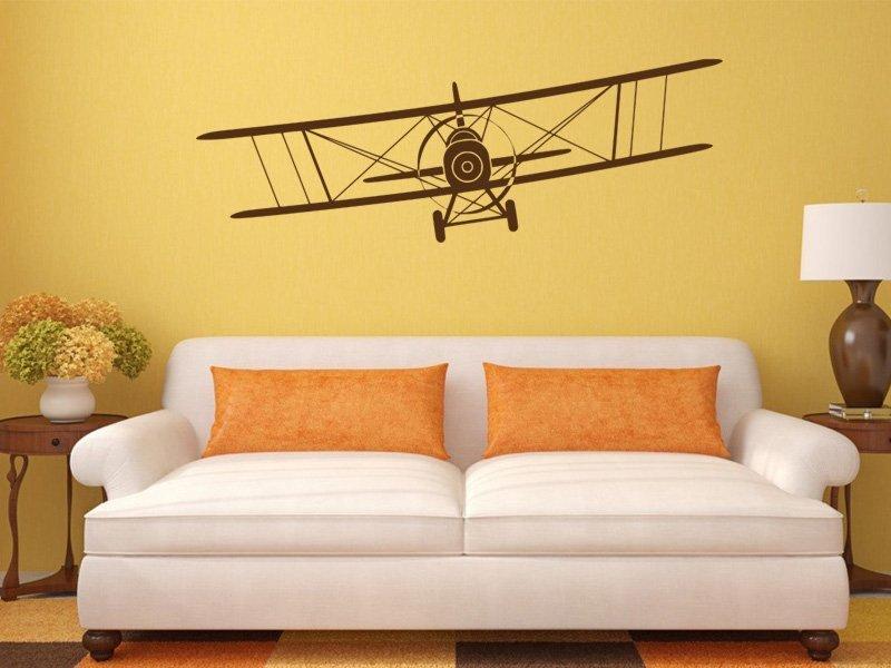Samolepky na zeď Letadlo 007 - Samolepící dekorace a nálepka na stěnu