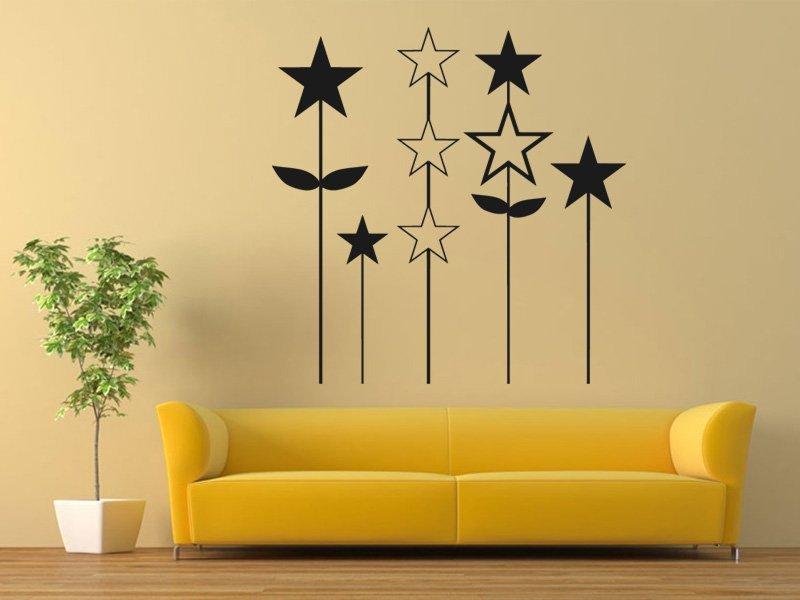 Samolepky na zeď Hvězdy 001 - Samolepící dekorace a nálepka na stěnu