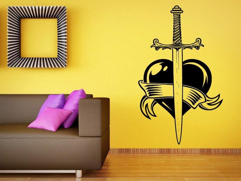 Samolepky na zeď Meč 001 - Samolepící dekorace a nálepka na stěnu