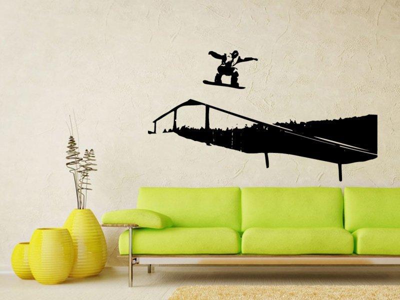 Samolepky na zeď Snowboardista 002 - Samolepící dekorace a nálepka na stěnu