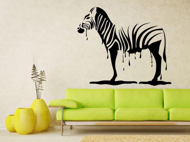 Samolepky na zeď Zebra 011 - Samolepící dekorace a nálepka na stěnu