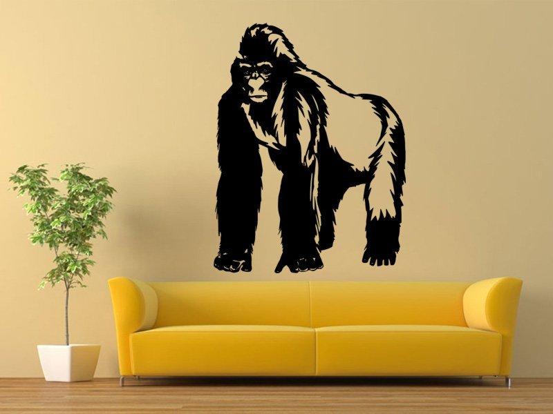 Samolepky na zeď Gorila 001 - Samolepící dekorace a nálepka na stěnu