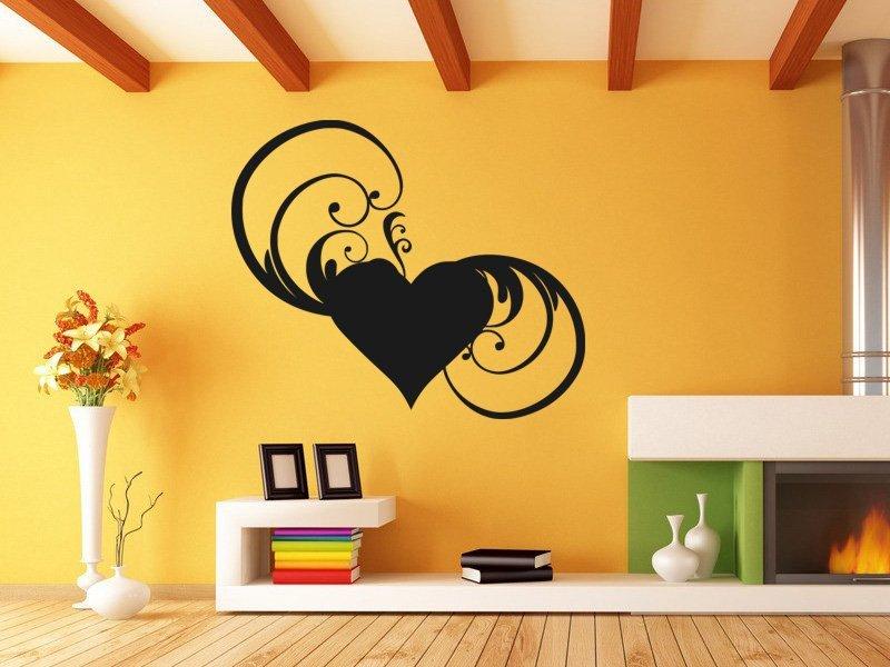 Samolepky na zeď Srdce 0245 - Samolepící dekorace a nálepka na stěnu