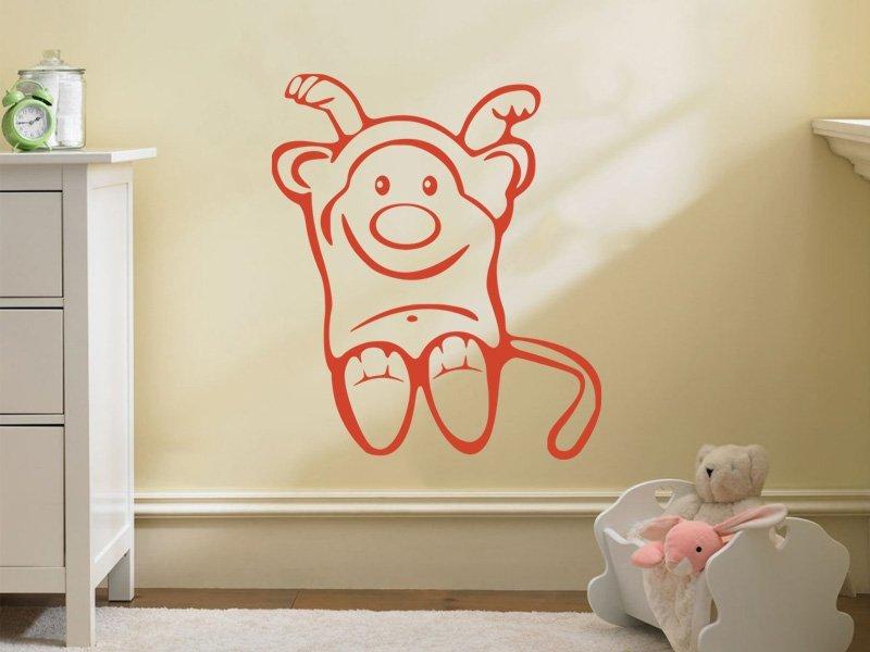 Samolepky na zeď Opička 003 - Samolepící dekorace a nálepka na stěnu
