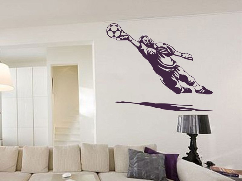 Samolepky na zeď Fotbalista 013 - Samolepící dekorace a nálepka na stěnu