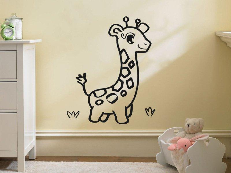 Samolepky na zeď Žirafa 001 - Samolepící dekorace a nálepka na stěnu