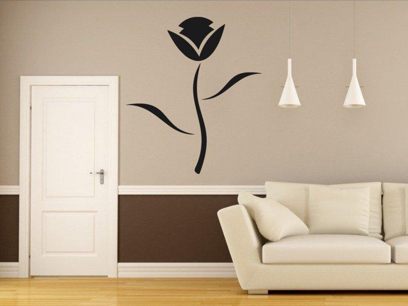 Samolepky na zeď Květiny 028 - Samolepící dekorace a nálepka na stěnu