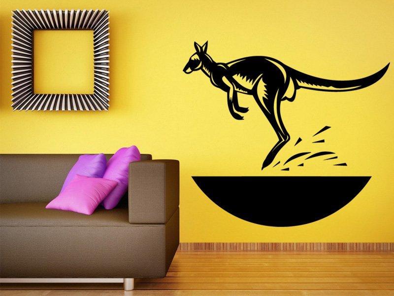 Samolepky na zeď Klokan 001 - Samolepící dekorace a nálepka na stěnu