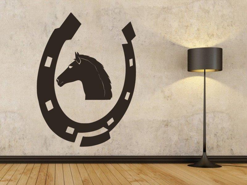 Samolepky na zeď Podkova 0414 - Samolepící dekorace a nálepka na stěnu