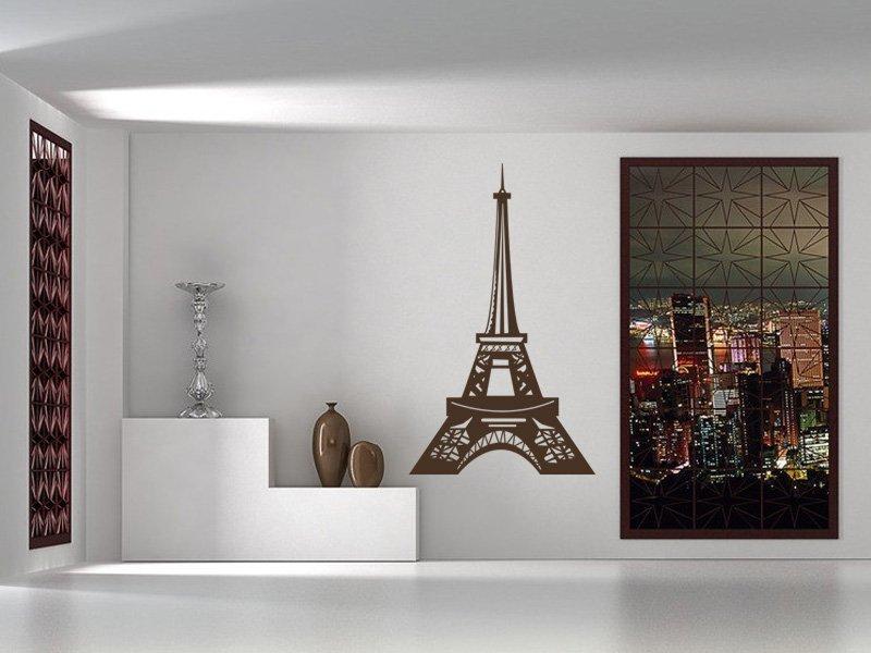 Samolepky na zeď Eifelova věž 006 - Samolepící dekorace a nálepka na stěnu