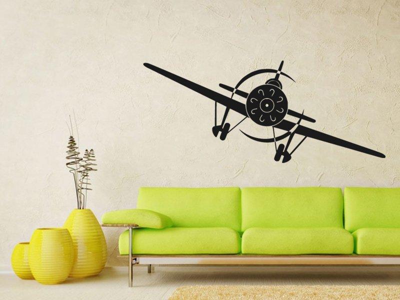 Samolepky na zeď Letadlo 002 - Samolepící dekorace a nálepka na stěnu