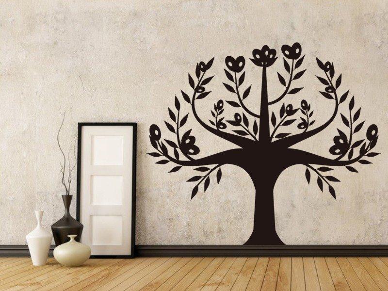 Samolepky na zeď Strom 052 - Samolepící dekorace a nálepka na stěnu