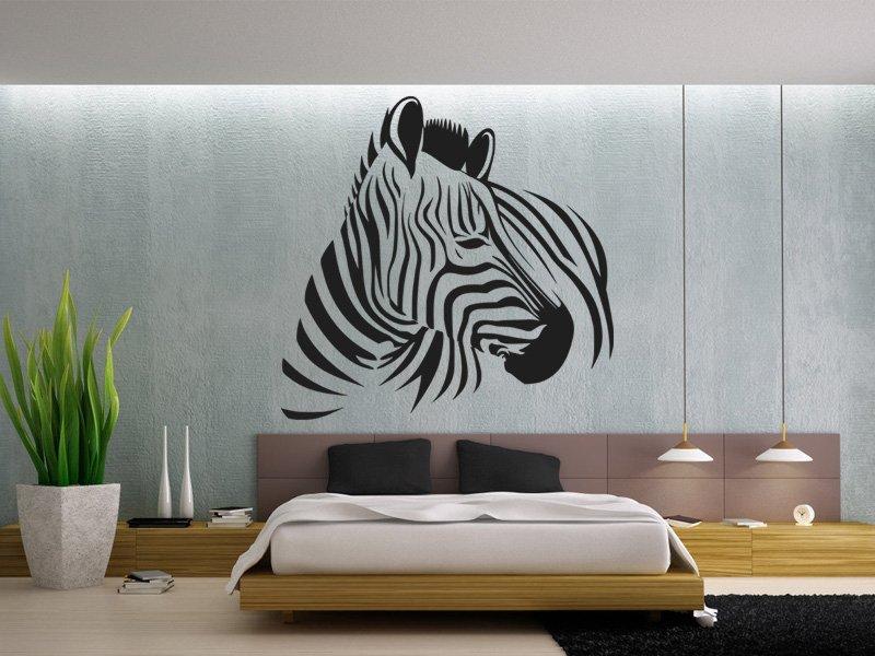 Samolepky na zeď Zebra 007 - Samolepící dekorace a nálepka na stěnu
