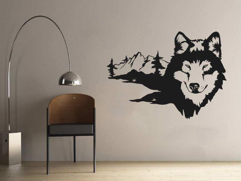 Samolepky na zeď Husky 002 - Samolepící dekorace a nálepka na stěnu