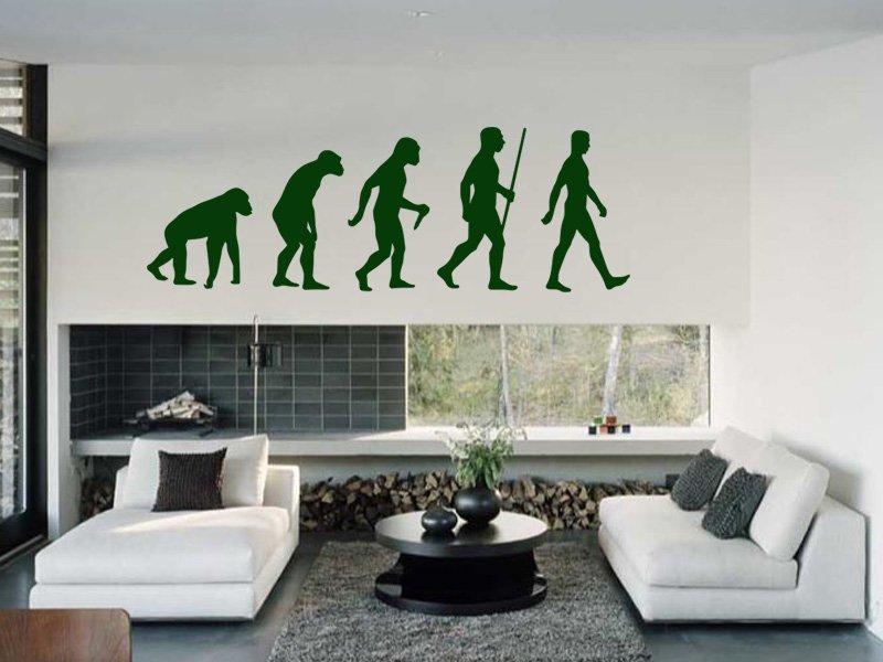 Samolepky na zeď Evoluce 001 - Samolepící dekorace a nálepka na stěnu