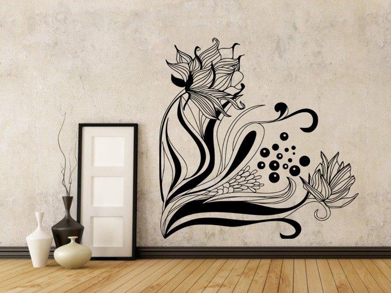 Samolepky na zeď Květiny 020 - Samolepící dekorace a nálepka na stěnu