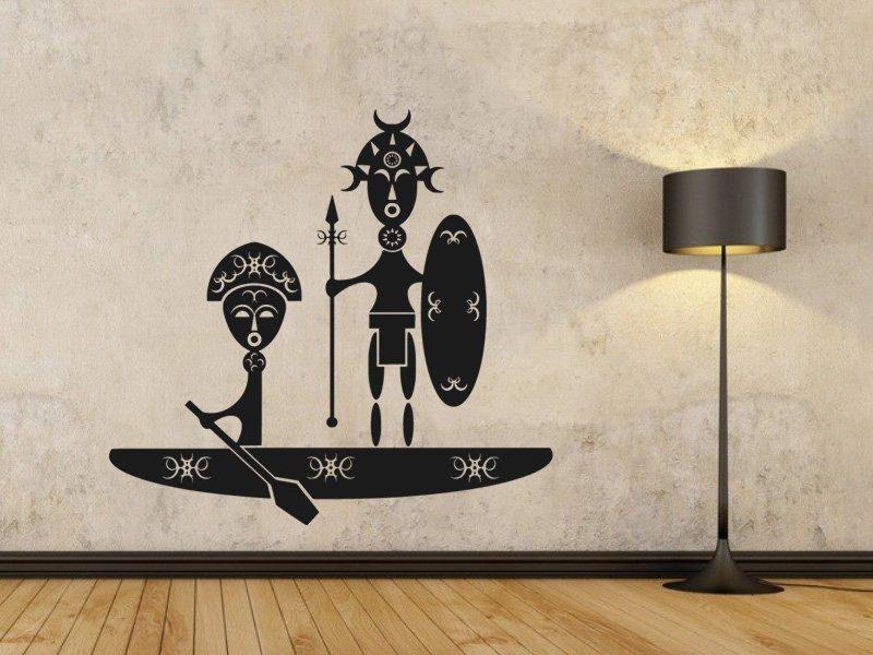 Samolepky na zeď Afrika 003 - Samolepící dekorace a nálepka na stěnu