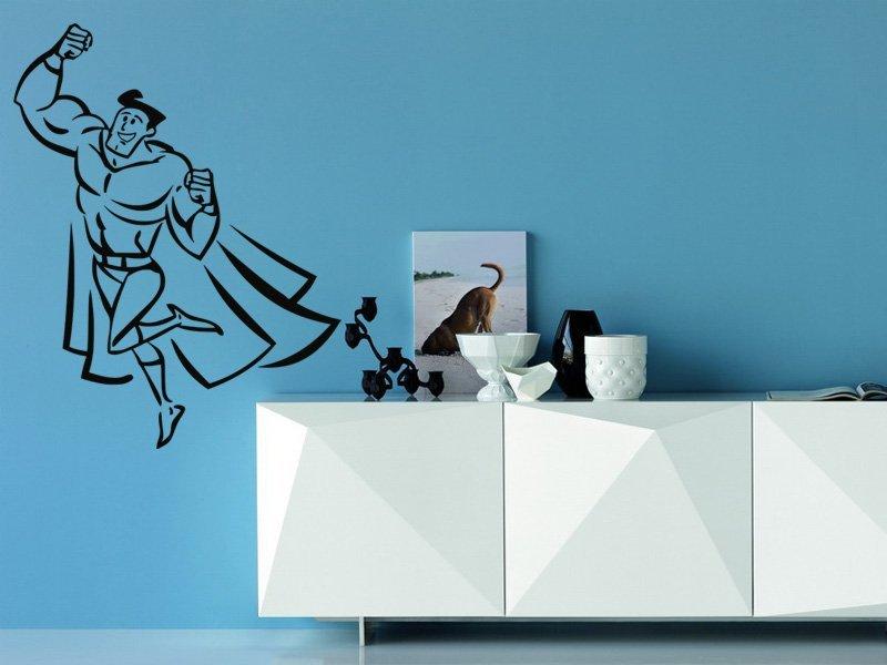 Samolepky na zeď Superhrdina 002 - Samolepící dekorace a nálepka na stěnu